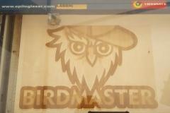 Birdmaster logo uit hardhout (6mm dik)